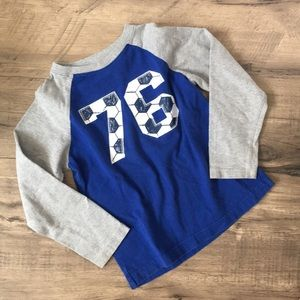 GYMBOREE Boys 6 blue and grey long sleeve top GUC